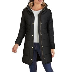 COLE HAAN Signature black down puffer coat